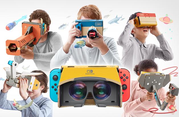 『Nintendo Switch』でVRゲームを楽しもう!つくる、おてがるVR『Nintendo Labo: VR Kit』発売